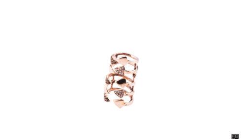 Anello dito Medulla zirconi bianchi e neri 1