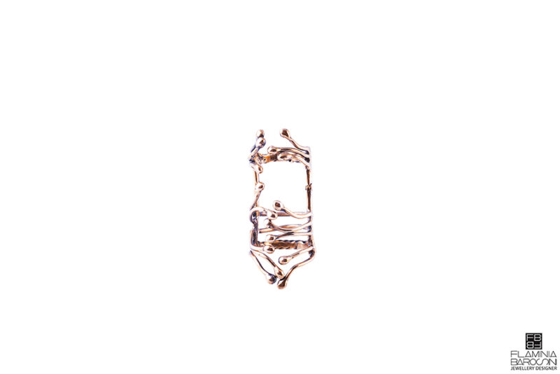 Anello half genesis bronzo