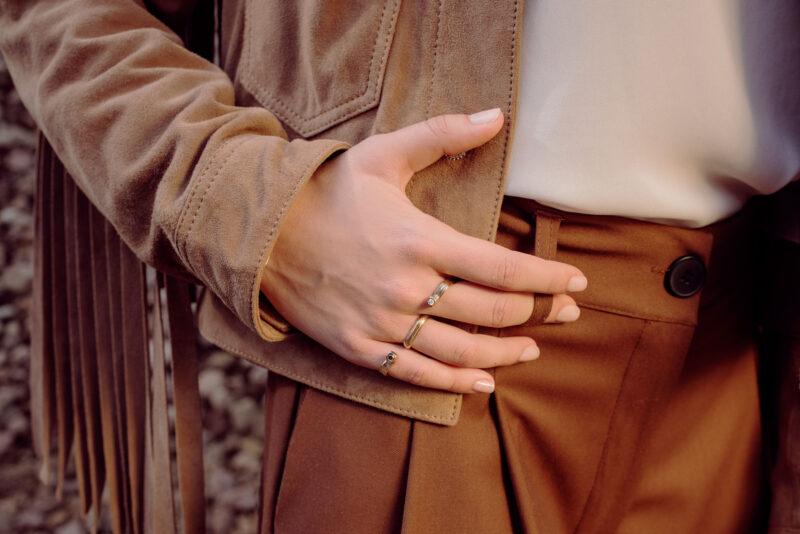 anello baffo druide bronzo